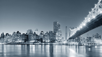 new york city, lights,, city, united states of america