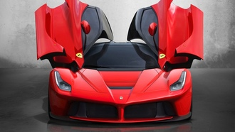 ���������� ����������, Gull-wing door, �����������, ����� ����� �����, �������, Ferrari LaFerrari, Italian, ����������, sports cars, cars, red