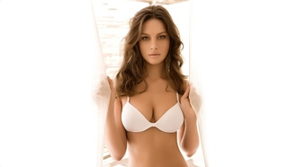 �������, women, ����� �����, �����������, ��������, brunettes, white, base, ����, ������, brown eyes, bra, �����, boobs