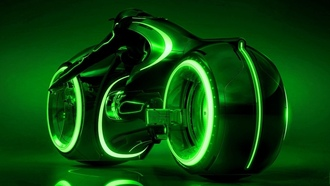 Tron Legacy, �������, movies, neon lights, futuristic, ������, motorbikes, ���������������, wheels, ������, ����������, Tron, ������, lights, green, �������� ����