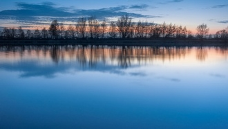 landscapes, blue skies, �������, reflections, ������� ����, ���������, trees, �������