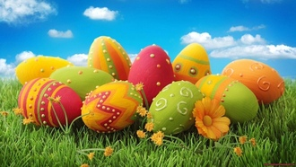 ����, painted, Easter, ����������, patterns, eggs, �����, �����