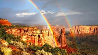 ��������, �������, ������, rainbows, nature, monument, Colorado, ��������, landscapes, national, �������, �������������