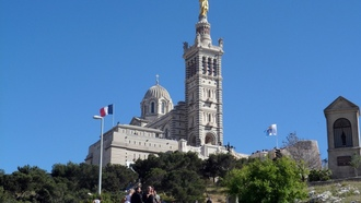 marseille, church, french, nd de la garde, france, eglise