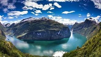 Geiranger, water, ��������, fjord, ������, ����, �������, landscapes, ����, mountains, ���������, Norway