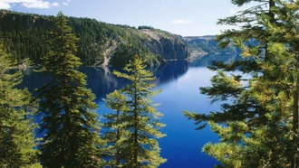 Oregon, ����� �������, �������, lakes, National Park, crater lake, ������, ������������ ����, trail, �����, nature, �����
