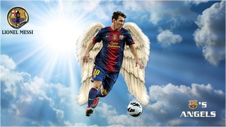 blaugrana, Lionel Andres Messi, soccer, ������, Leo Messi, ��� �����, Messi, angels, �����, �����, wings, ������� ������ �����, bar�a, fussball, ������, ����-����������, ���������� ������, ������, Futebol