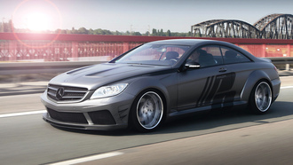 Mercedes, motion, tuning, black edition, cl, wide body, bridge, road