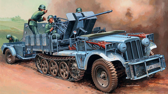 ��, sd.kfz.10-4, ���, ��������, with flak30, ��, ����, flak30