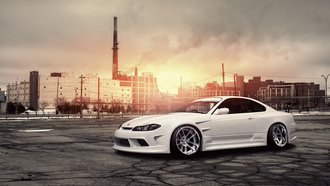 ������, s15, front, white, nissan, �����, �����, silvia, �����, �������