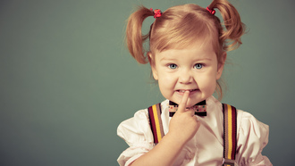 child, little girl, fashion, young, stylish, cute, children, angry, blonde, beautiful, hair bow