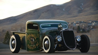 v8, pickup, ford, 1935, rat rod
