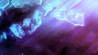 background, pink, blue, rays, universe, purple, space, colorful, nebula, stars