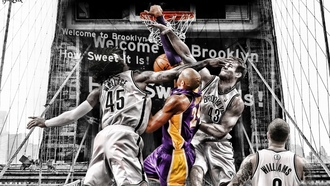 gerald wallace, kris humphries, kobe bryant, deron williams, nets, кольцо, lakers