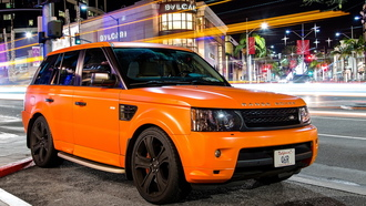 land rover, sport, matte, ������, ���� �����, ���������, orange