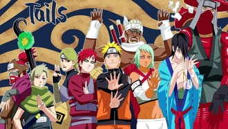 naruto, anime, killer bee, gaara