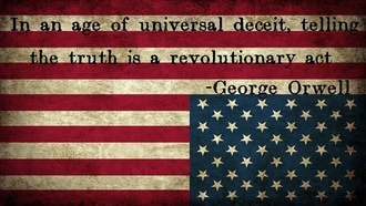 usa, george orwell, flag, america, stars, upside down