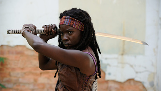 ходячие мертвецы, michonne, danai gurira, season 3, the walking dead