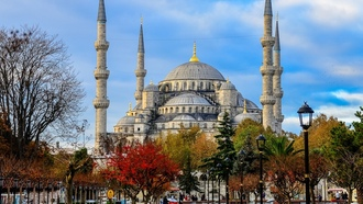 istanbul, sultan ahmed mosque, blue mosque, turkey, голубая мечеть