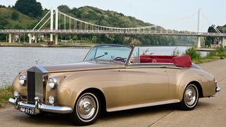 1959, роллс-ройс, drophead, coupe, silver cloud, мост, rolls-royce
