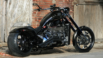 v8, rear, angle, chopper