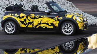 �����, ����, auto wallpapers, s-reflection, cars, cabriolet, ���� ����, mini, ���������, versace, ���� ����