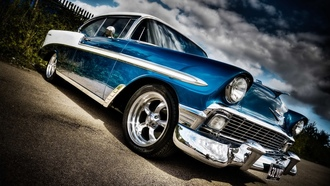 ������, car, 1958, chevrolet, ����, bel air