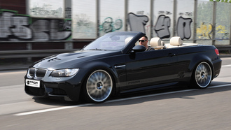 ������, ������, ��������, car, prior design, tuning, bmw e93 m3, road, 3000x1875, speed