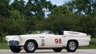 thunderbird, race, car, 1957, experimental