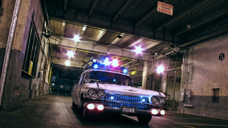 �������� �� ������������, ecto-1, ghostbusters, ������, cadillac miller meteor