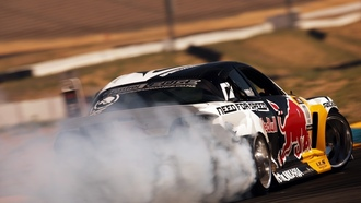 rx-8, mazda, red bull, �����, drift, ���, smoke, �����