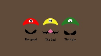the bad, the ugly, the good, hats, ��������, mario, �������, ���, moustache, ������, ������, character, 1920x1200, ����������, �����, minimalism