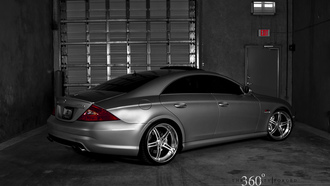 silver benz, 360 forged, тюнинг cls