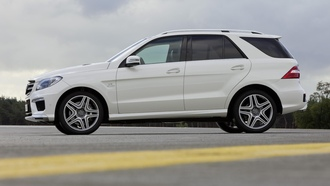 3072x2048, ����, sky, 2012 mercedes-benz ml 63 amg, ������, car, ������, clouds, asphalt, �������