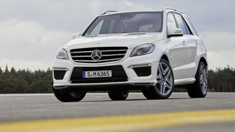sky, �������, 3072x2048, ����, ������, car, asphalt, clouds, 2012 mercedes-benz ml 63 amg, ������