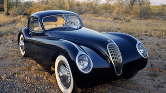 фары, отражение, классика, jaguar, 1953, fixed head, coupe, xk120m
