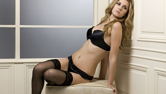 ������, ������, pretty blonde, �����, ���������, ���������������, model, ������, black lingerie, ����