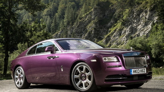rolls-royce, wraith, purple, coupe, wood
