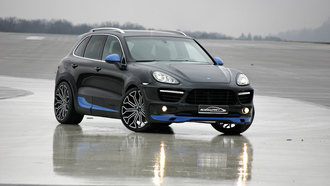 �������, 3072x2048, ������, ����, asphalt, sky, speedart, porsche cayenne, ���������, tuning, reflection, car