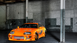 toyota supra, fast and the furious, тюнинг, форсаж, tuning, тачка, диски, гараж, наклейки