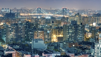 lower east side, williamsburg bridge, ночь, brooklyn, nyc, new york city, нью-йорк, night, manhattan, огни, usa