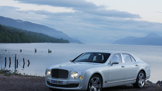 ����, �����, nature, �������, trees, clouds, shore, �������, 5616x3744, �����, bentley mulsanne, ����, ������, car, ������, forest, ���, sky, water, lake