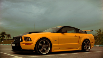 ford, musclecar, gt500, shelby, es2, yellow, mustang