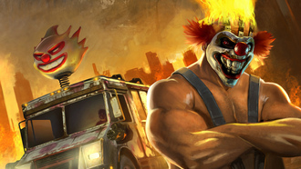 fighting, 3, racing, vehicle, video game, twisted metal, playstation, sony, ����, david jaffe, ����������, ����, 1995, sweet tooth, ����� ������, ������, kane, action, combat, needles, eat sleep play