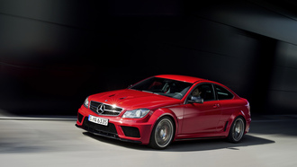 mercedes-benz c 63 amg coupe black series, ������, car, ��������, ������, speed, road, 3000x1993