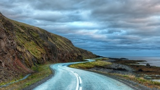 ������, ������, the long curvy road around iceland