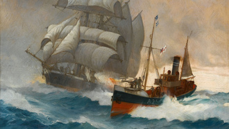 �����, clipper, ��������, ������, montague dawson, ����, boat, �������