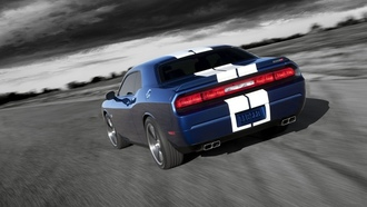 dodge, srt8, challenger, 392, blue, inaugural edition, передняя часть