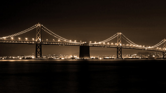 skyline, the bay bridge, san francisco