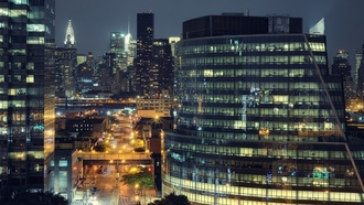����, usa, nyc, long island city, queens, ���-����, night, manhattan, ����, new york city